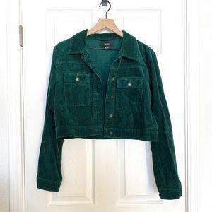 Evergreen Corduroy Cropped Jacket